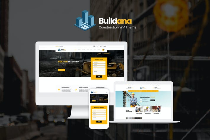 Thumbnail for Buildana | Bau & Gebäude WordPress Thema