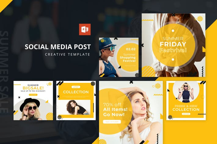 Thumbnail for Летняя распродажа Instagram Лента Powerpoint Шаблон