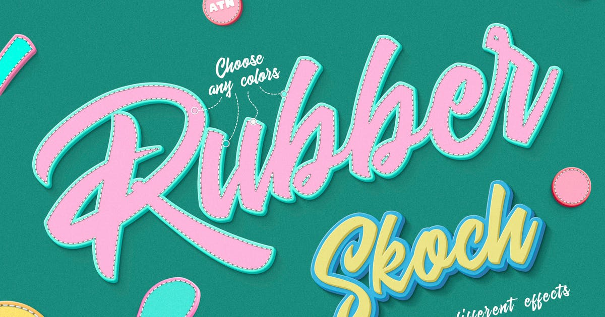 Download Rubber Photoshop Action by Sko4