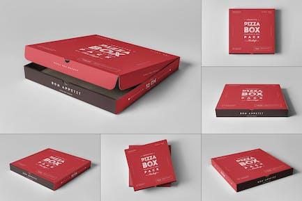 32 Pizza Box Mock-up