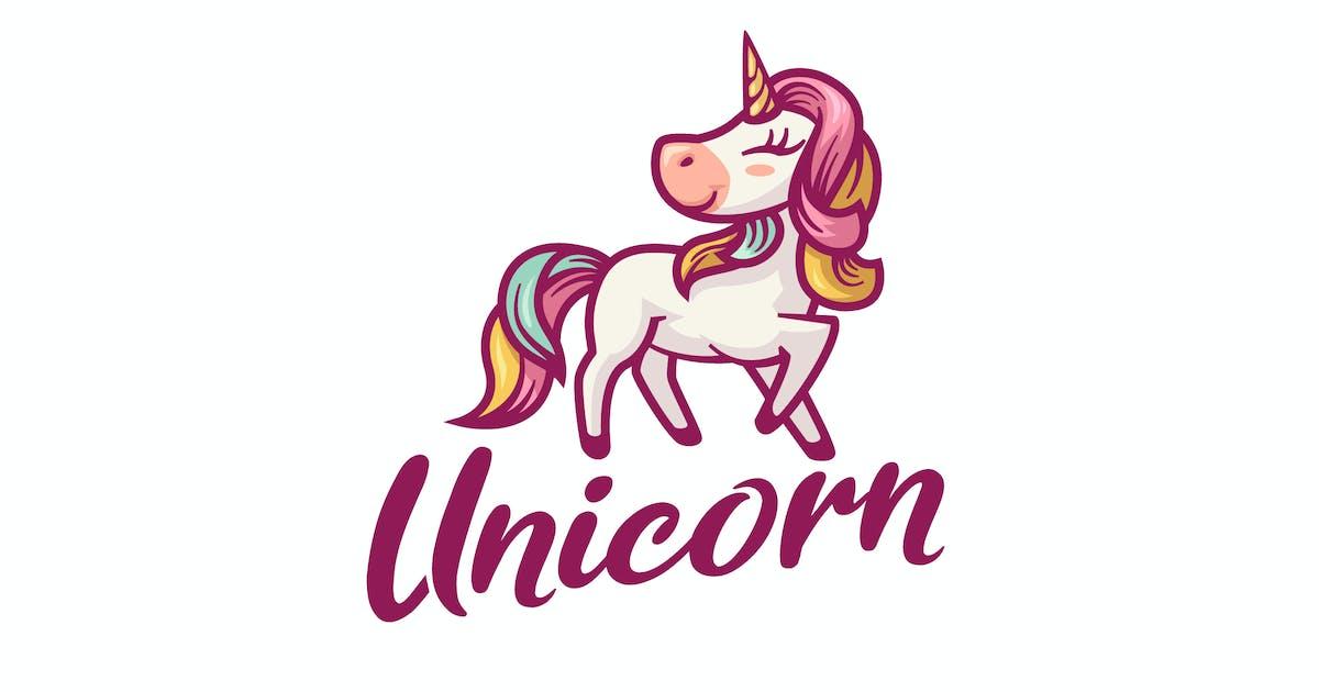 Download Cartoon Colorful Unicorn Character Mascot Logo by Suhandi
