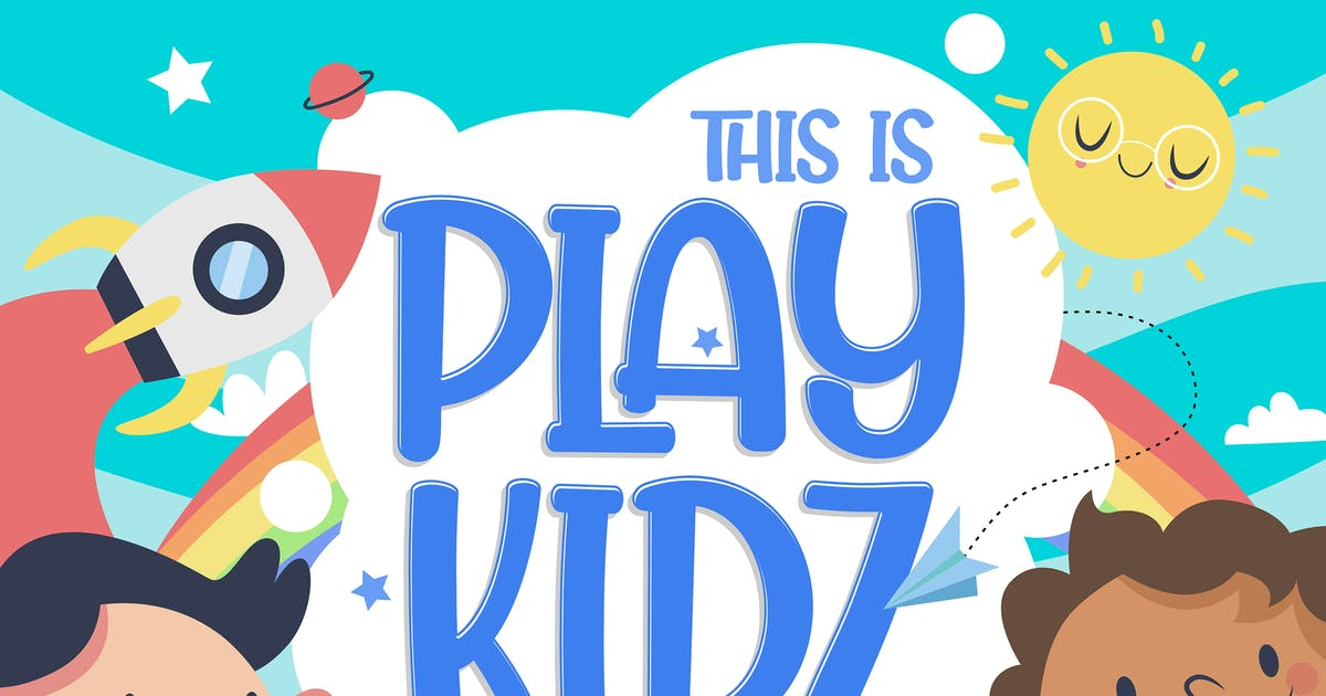 Download Playkidz - Fun Font by deemakdaksinas