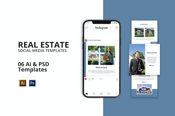 Thumbnail for Immobilien Social Media Instagram Post