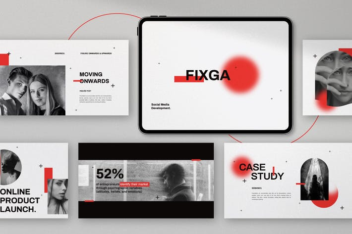 Thumbnail for Fixga - Social Media Entwicklung Powerpoint