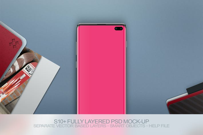 Thumbnail for S10+ Layered PSD Mock-Up with Background
