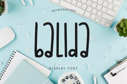 Balida Display Font