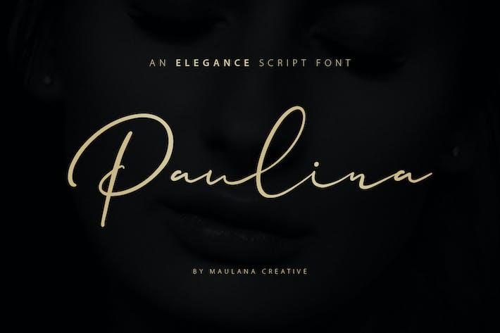 Thumbnail for Paulina Elegance Script Font