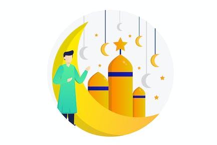 Illustration Plat Islamique
