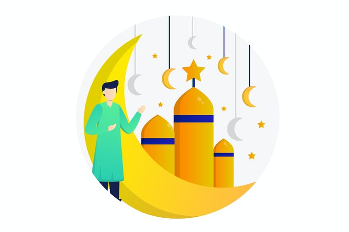 Thumbnail for Islamic Flat Illustration