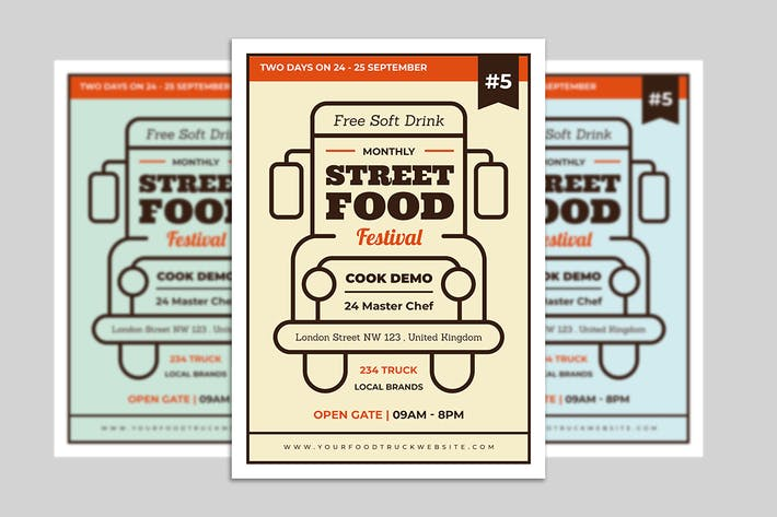 Thumbnail for Food Truck Flyer