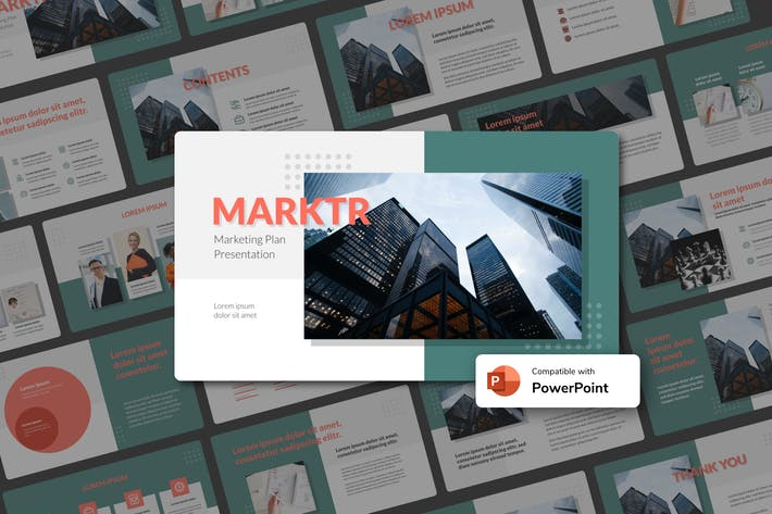 Thumbnail for MARKTR - Marketing Plan PowerPoint Template