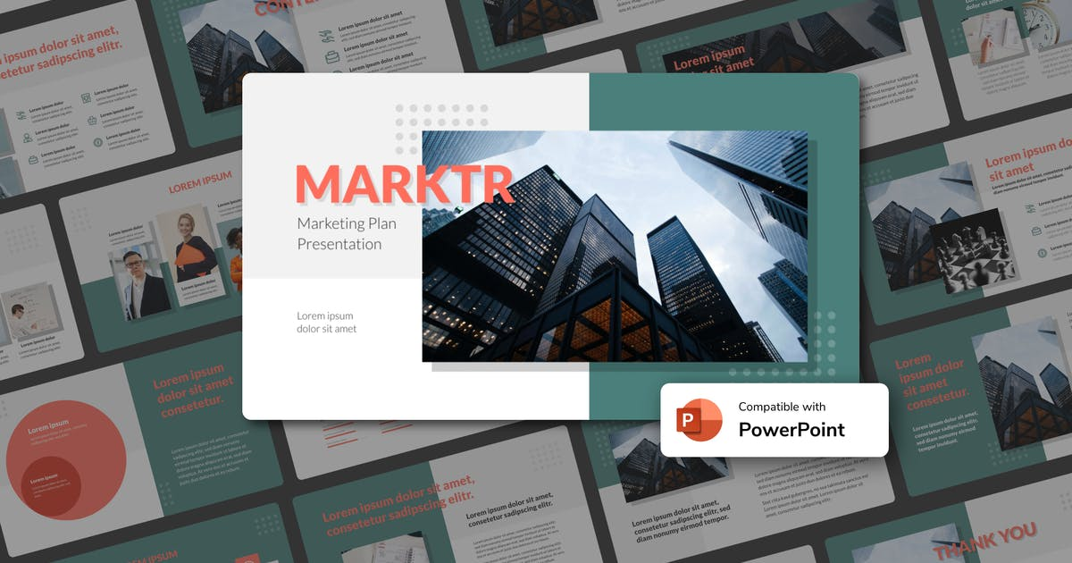 Download MARKTR - Marketing Plan PowerPoint Template by inipagi