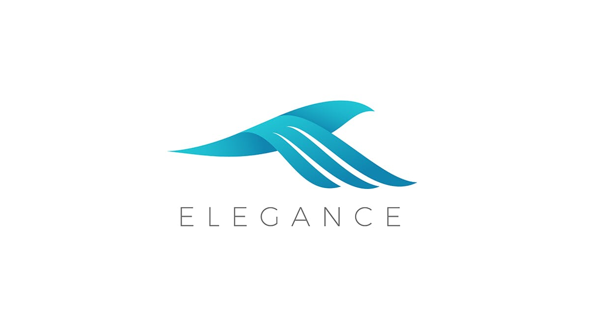 Download Flying Bird Logo Elegant style by Sentavio