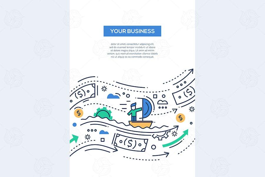 Your Business - line design brochure poster
