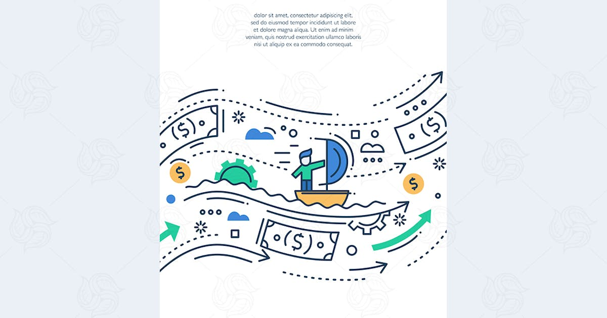 Download Your Business - line design brochure poster by BoykoPictures