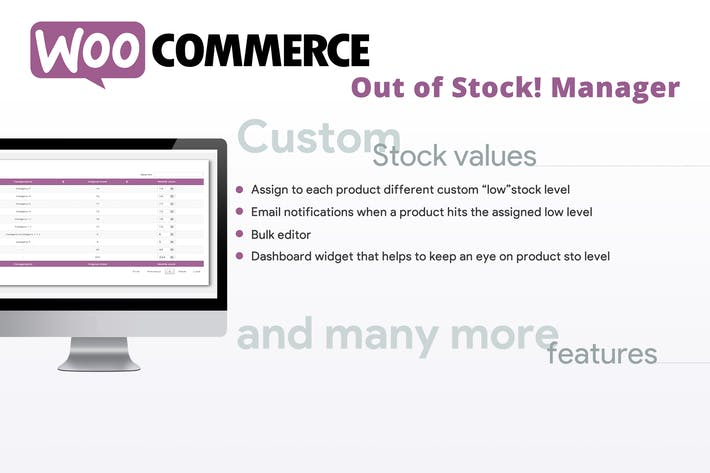 Thumbnail for WooCommerce Out of Stock! Manager