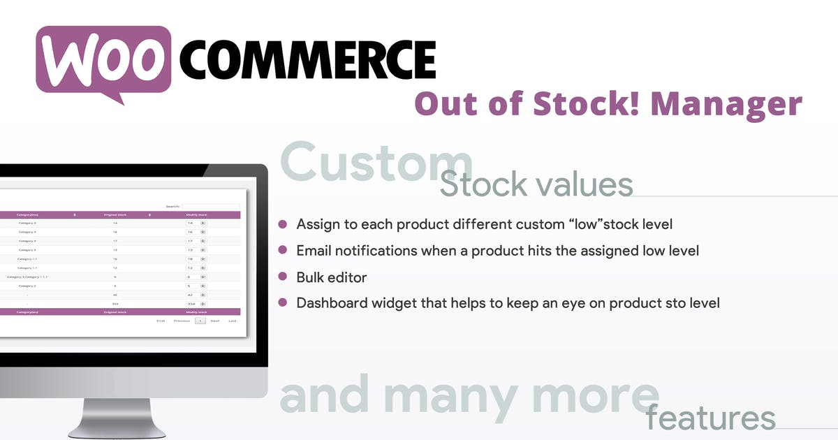 Download WooCommerce Out of Stock! Manager by vanquish