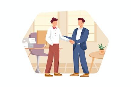 Geschäftsgespräch bei der Besprechung