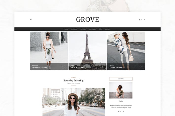 Thumbnail for Grove - Personal Blog Template