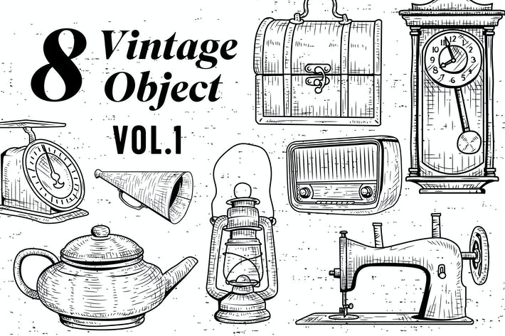 Thumbnail for 8 Vintage Object - Vol.1