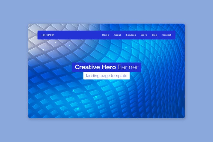 Thumbnail for Looper - Hero Banner Template