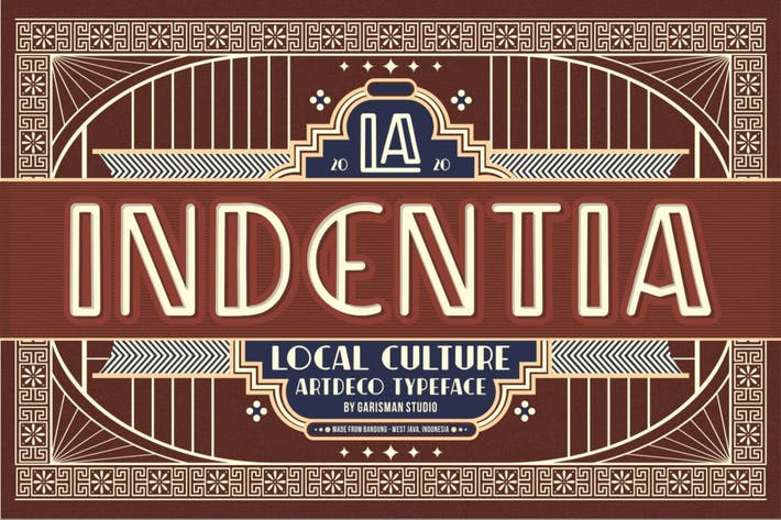 Indentia - Tipografía Art Deco