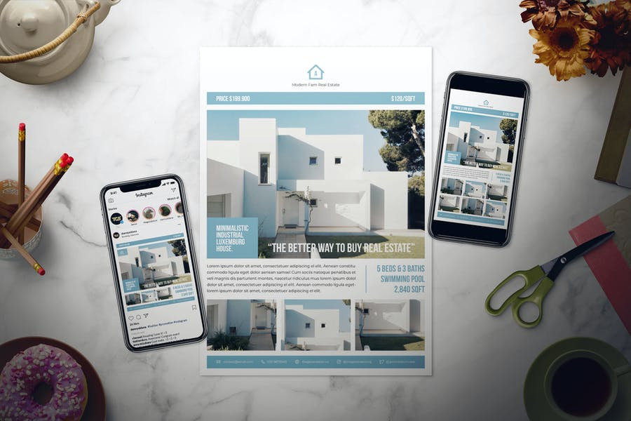 Real Estate Flyer Set - product preview 0