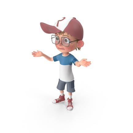 Cartoon Boy Lost