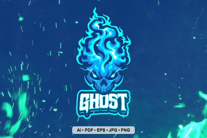 Thumbnail for Fire Ghost Mascot Logo for SPort and eSport