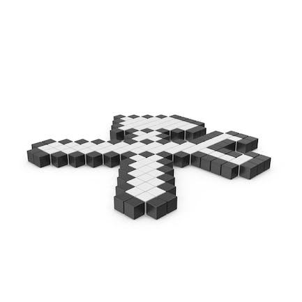Icono del kit de herramientas pixelado