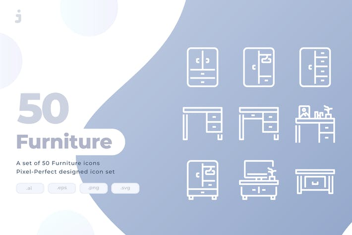 Thumbnail for 50 Furniture Icons