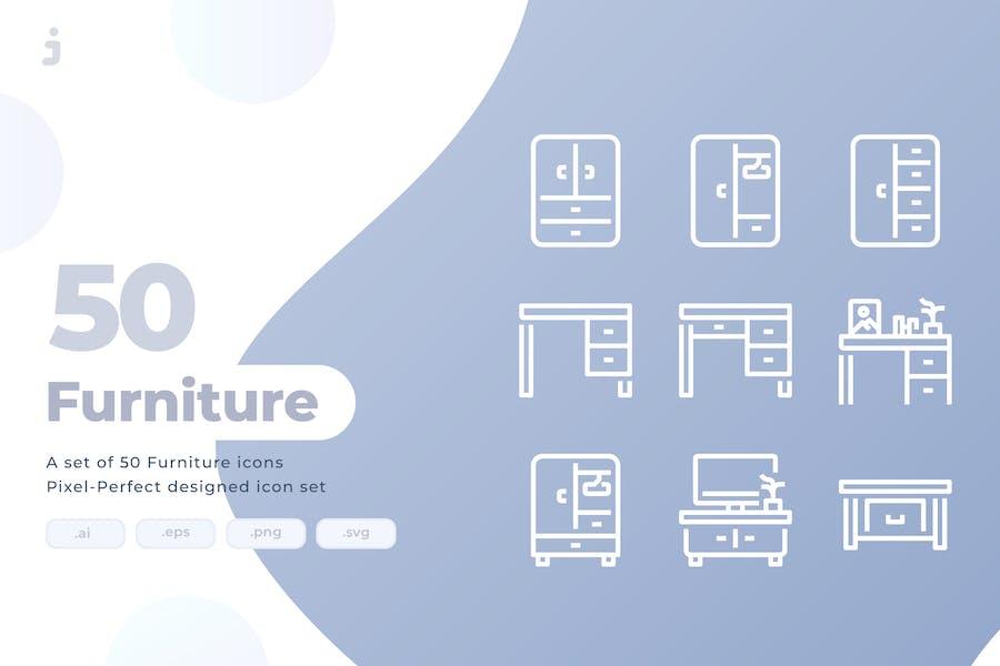 50 Furniture Icons