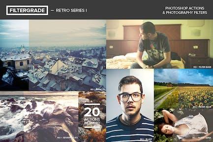 FilterGrade Retro Series I Photoshop Actions