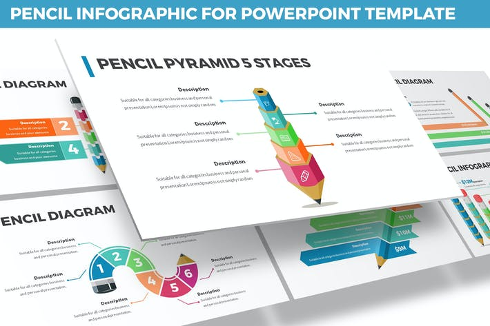 Thumbnail for Pencil Infographic for Powerpoint Template