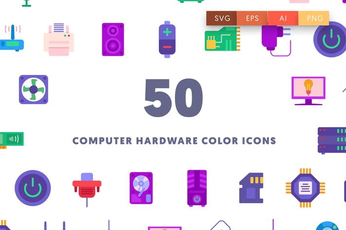 Thumbnail for Computer Hardware Color Icons