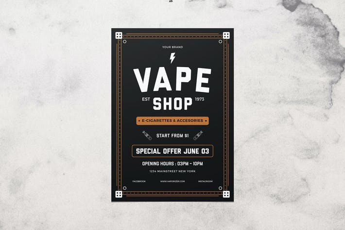Thumbnail for Vape Shop Flyer Menu