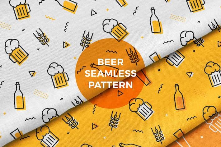 Thumbnail for Beer Mug Bottle Seamless Pattern Background
