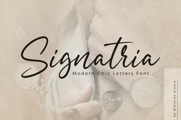 Thumbnail for Signatria a Chic Letter Font