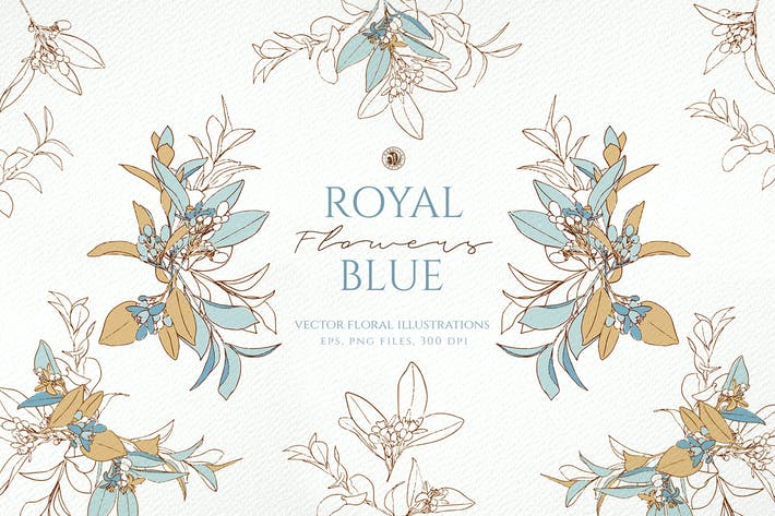 Cover Image For Royal Blue Flowers