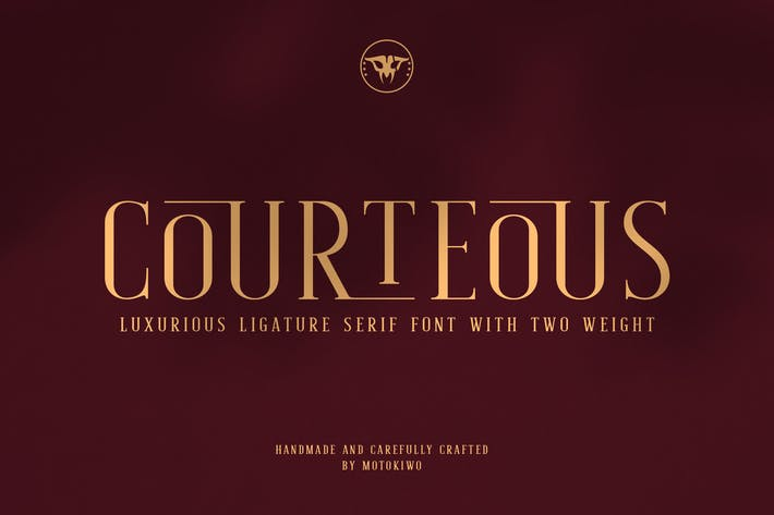 Thumbnail for Courteous - Ligature Serif Font