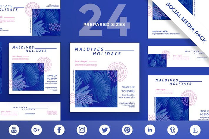 Holidays Travel Social Media Pack Template