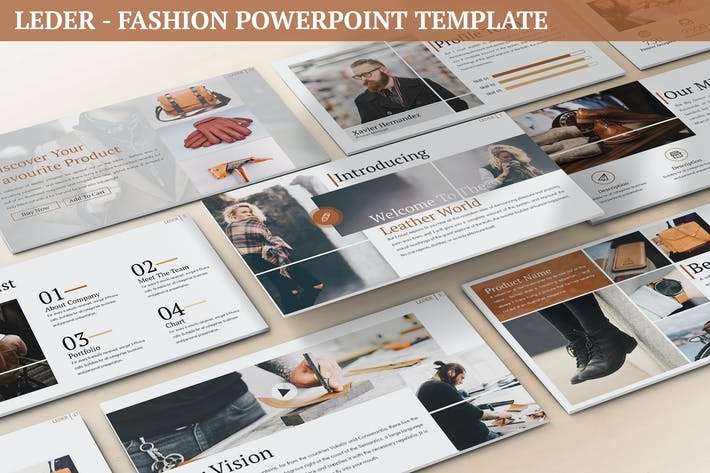 Thumbnail for Leder - Fashion Powerpoint Template