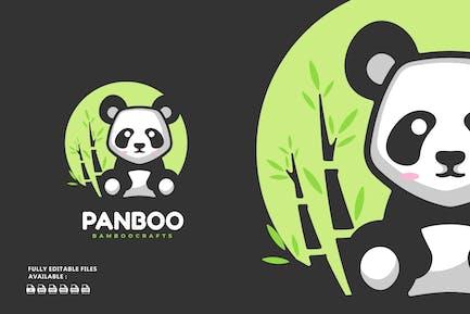 Panda Cartoon Logo