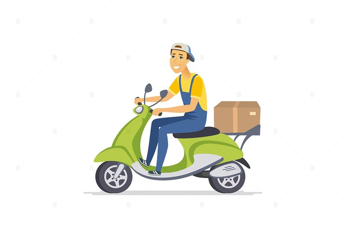 Thumbnail for Delivery man - cartoon people character