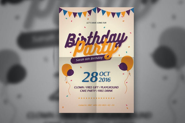 Thumbnail for Modern Birthday Flyer