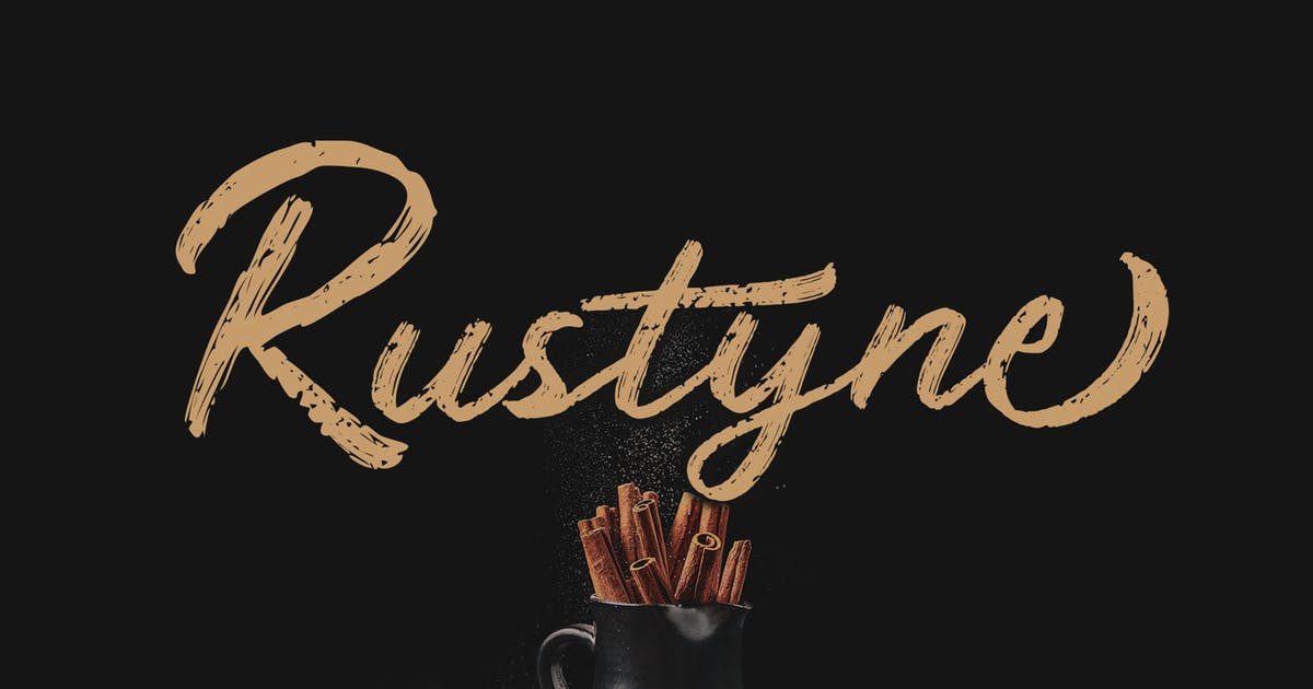 Download Rustyne - Rustic Script Font by craftsupplyco