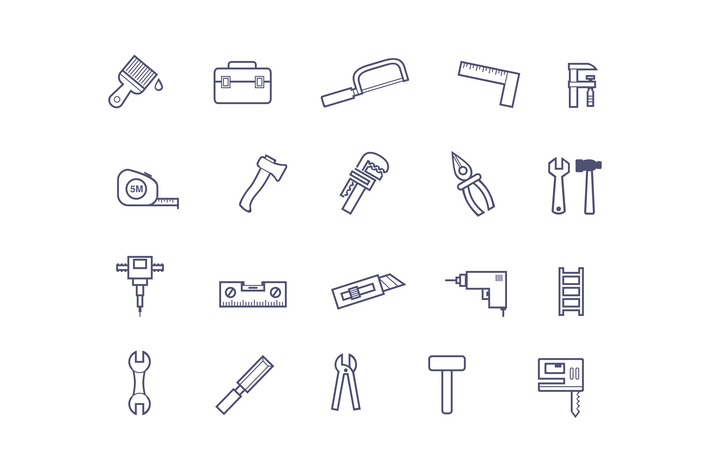 Thumbnail for 20 Tools and Hardware Icons