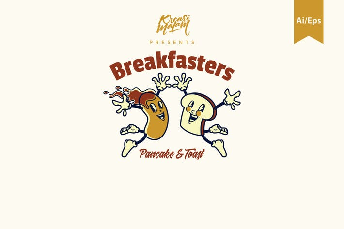 Thumbnail for Breakfasters Logo Template