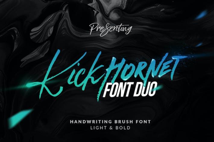 Thumbnail for Kick Hornet - 🐝 Logotype Brush Font