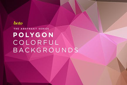 Polygon Abstract Backgrounds V14